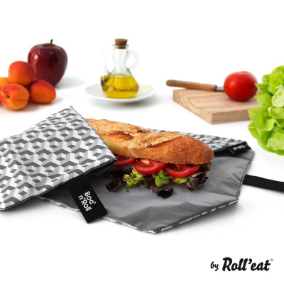 Wiederverwendbare Boc'n'Roll-Sandwichfolie | Schwarz
