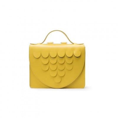 Leather Briefcase | Yellow