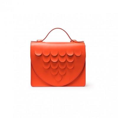 Leather Briefcase | Naranja