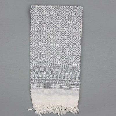Embroidered Scarf  | Grey