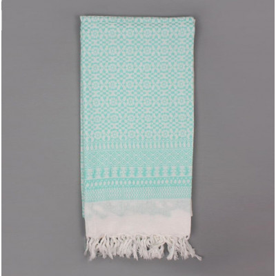 Embroidered Scarf  | Mint Green