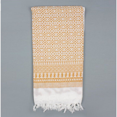 Embroidered Scarf  | Mustard