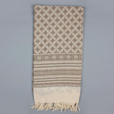 Embroidered Scarf  | Taupe