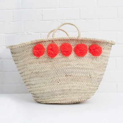 Pom Pom Basket Market | Orange