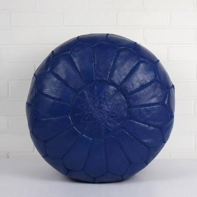 Marokkanischer Lederhocker   Kobalt