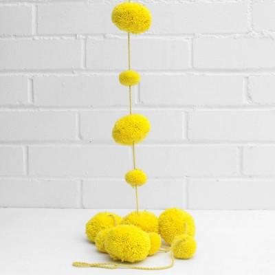 Pom Pom Garland | Acid Yellow