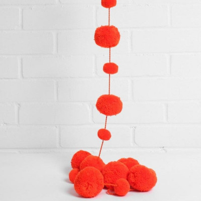 Pom Pom Garland | Orange