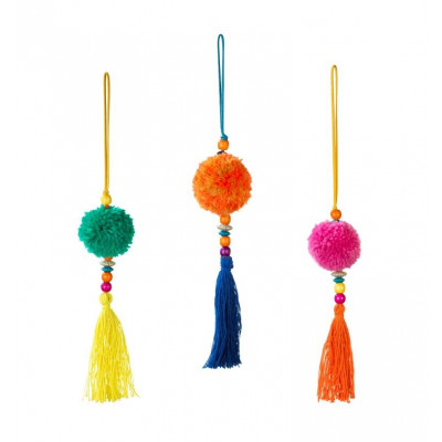 Pom Pom Tassel Dekoration Boho - 3er-Set