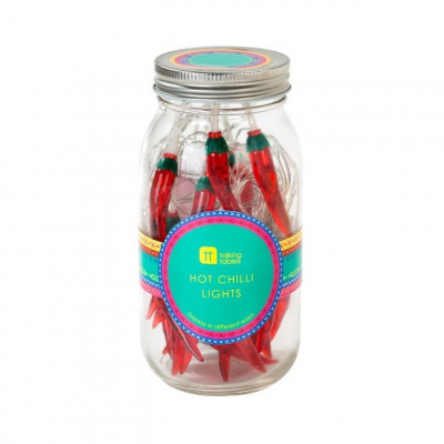 Chilli String Lights in a Jar Boho