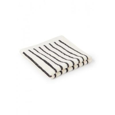 Waschlappen BOUDOIR | Schmaler Streifen Schwarz-Weiß