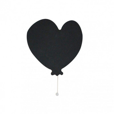 Musical Wall Box Heart   Black