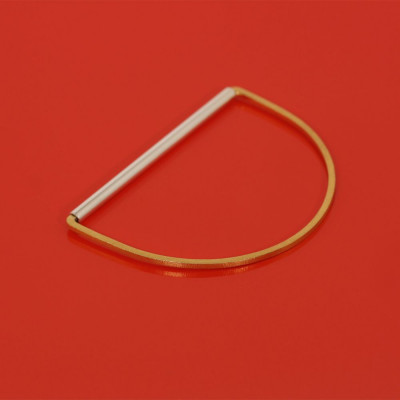 Bodil Bangle   Goldplated Silver