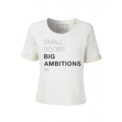 Small Boobs Big Ambitions | Short Sleeves Sweater Cream