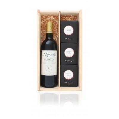 Luxus-Weinkiste Best of Merlot + Gratisgeschenk