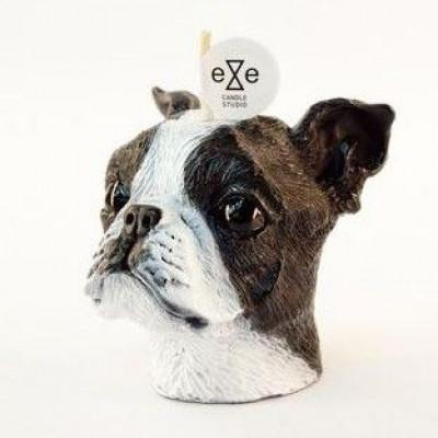 Candle Boston Terrier Painted | Vanilla & Caramel