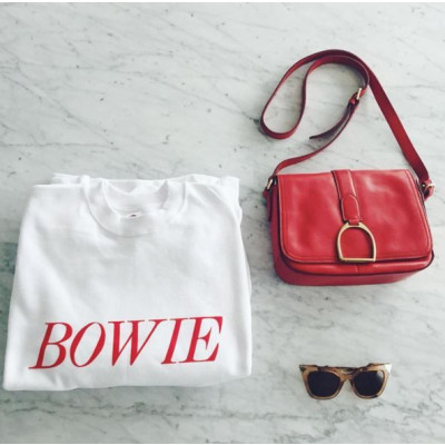 Bowie Tribute Sweater | White & Red
