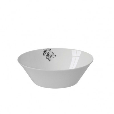 Small Bowl 60cl White & Black