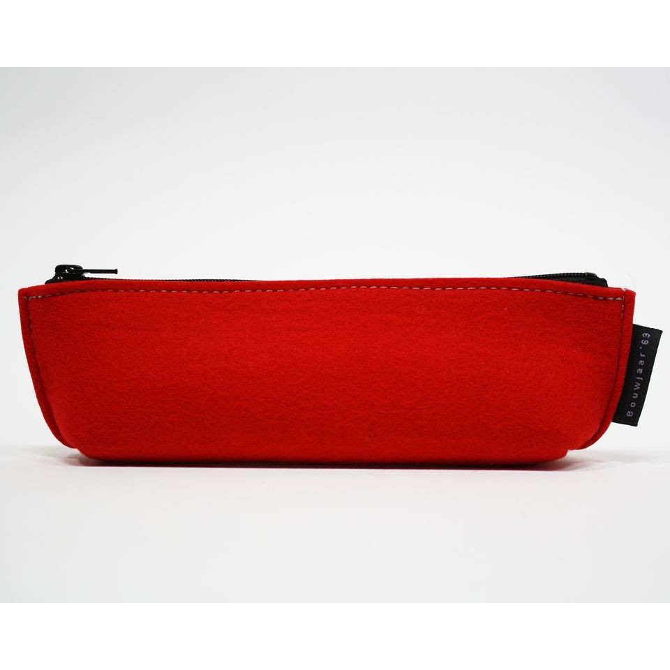 Boat Shaped Pencil Case Red Large