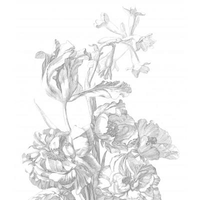 Wallpaper Panel XL Engraved Flowers