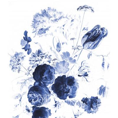 Wallpaper Panel XL Royal Blue Flowers