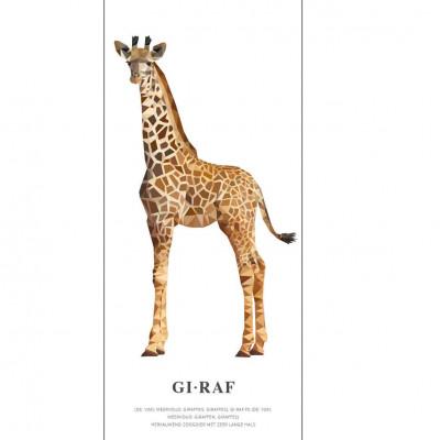Wallpaper Poster Geometric Wildlife | Giraffe
