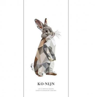 Wallpaper Poster Geometric Wildlife | Rabbit