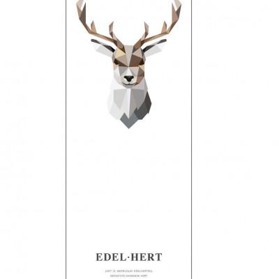 Wallpaper Poster Geometric Wildlife | Red Deer