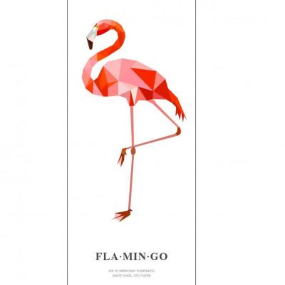 Wallpaper Poster Geometric Wildlife | Flamingo