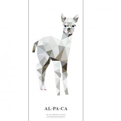 Wallpaper Poster Geometric Wildlife | Alpaca