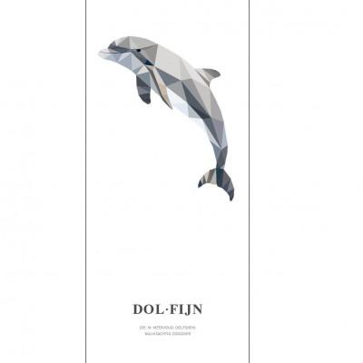 Wallpaper Poster Geometric Wildlife | Dolphin