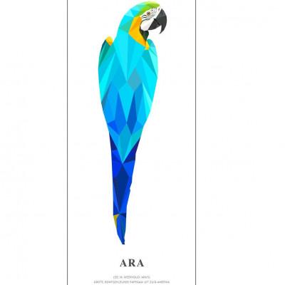 Wallpaper Poster Geometric Wildlife | Parrot