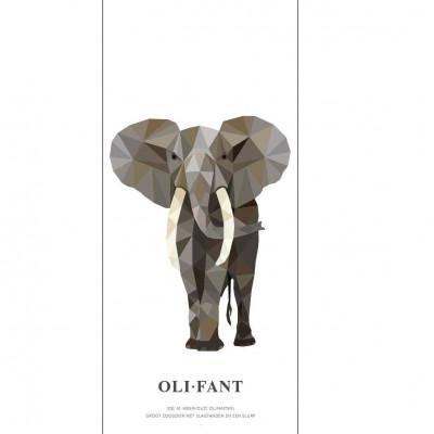 Wallpaper Poster Geometric Wildlife | Elephant