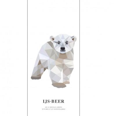 Wallpaper Poster Geometric Wildlife | Polar Bear
