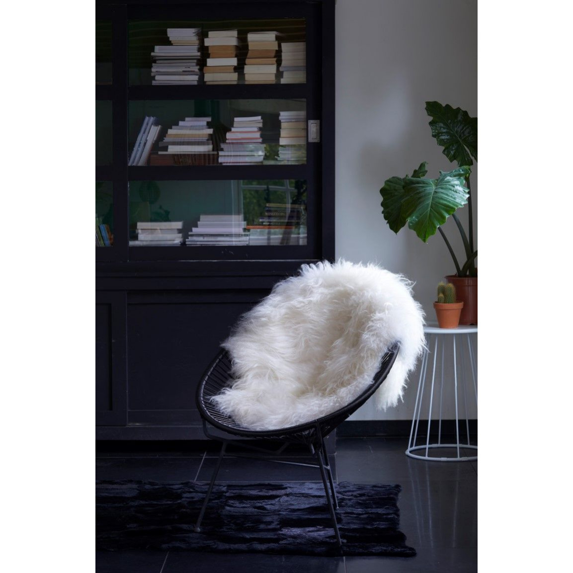 Isländischer Schaf-Teppich   Weiß