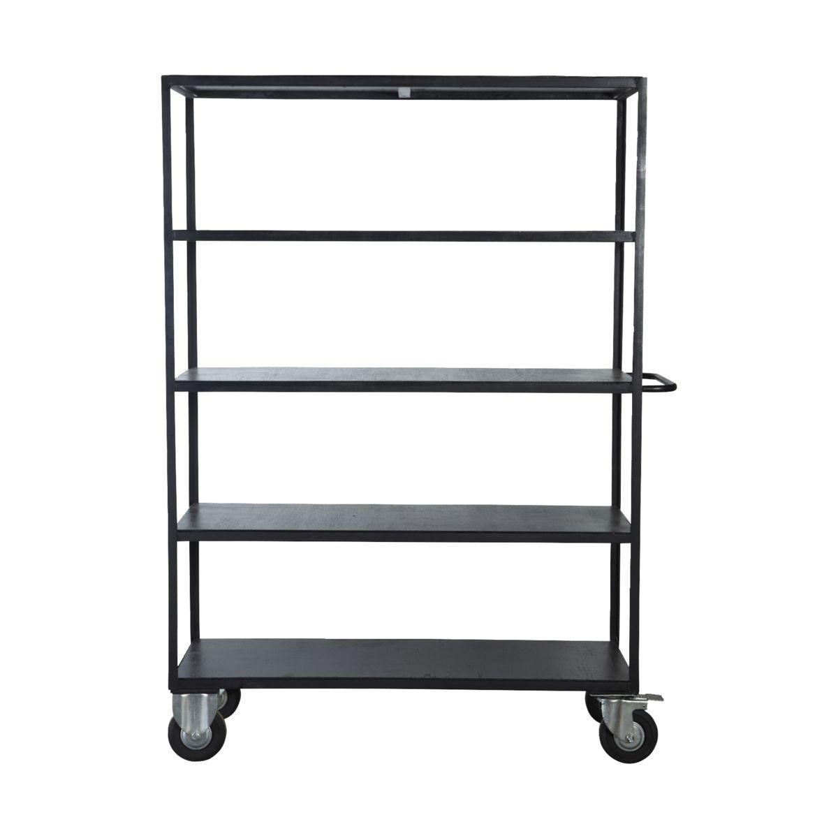 Shelving Unit 4 Wheels 175 cm | Black