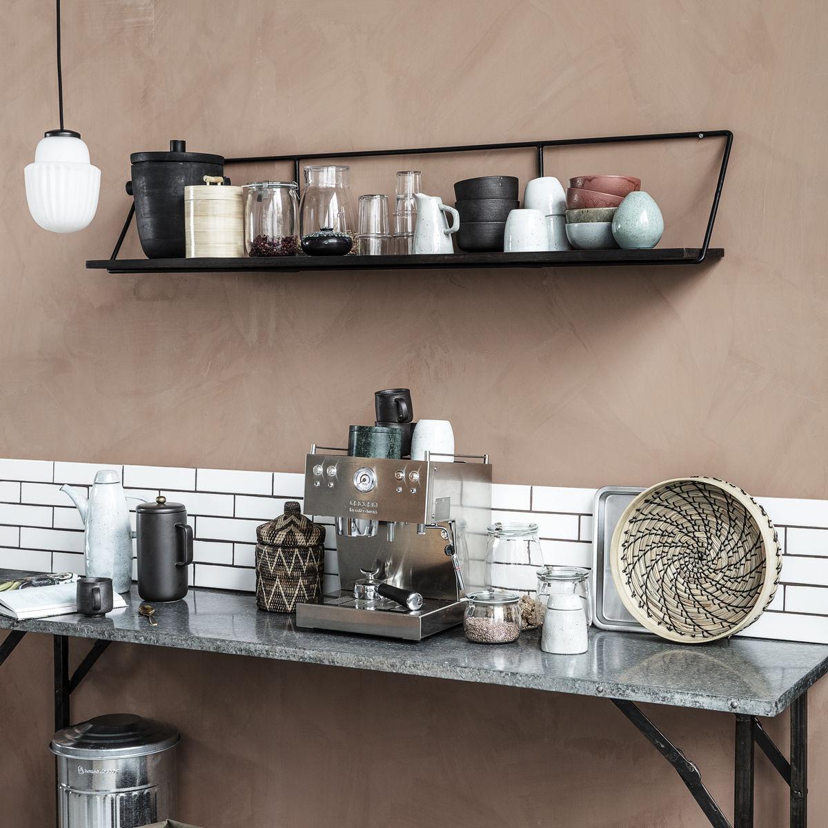Shelf Wired 130 cm   Black