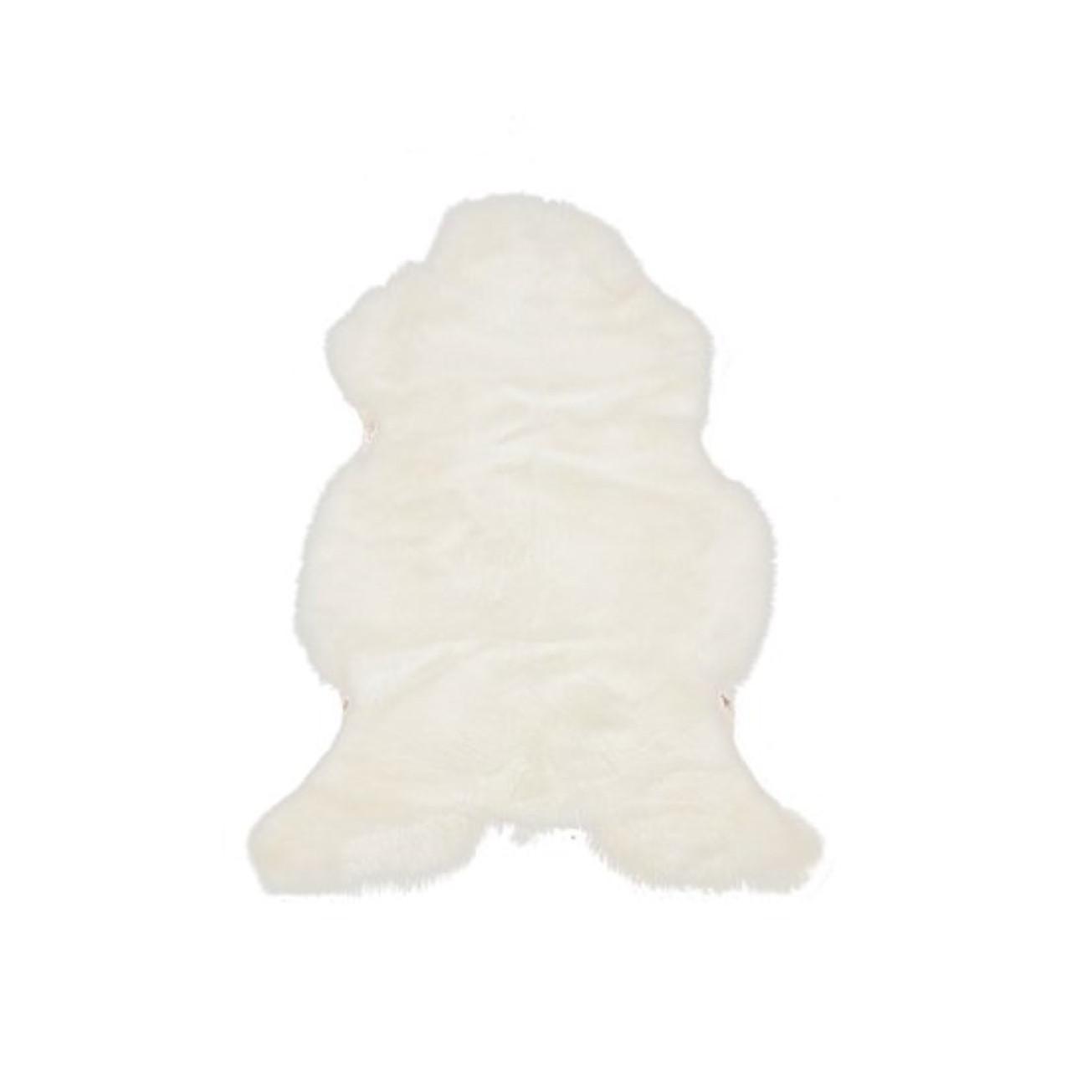 Niederländischer Schaf-Teppich   Weiß