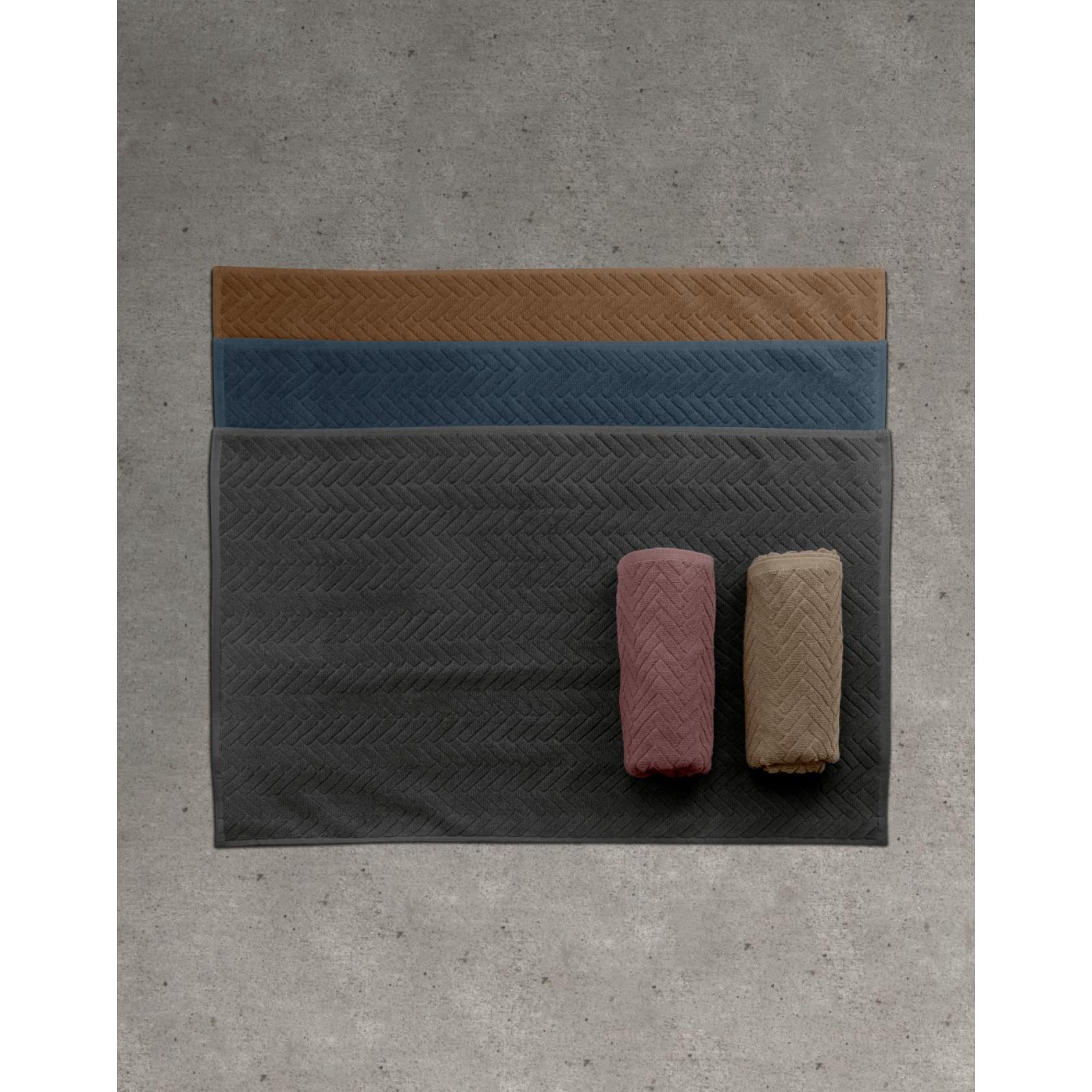 Tapis de Bain Brick | Mauve