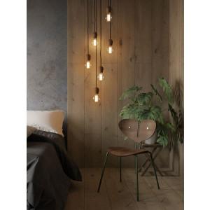 Pendant Light Bright Sprout | Smoked Oak & Black