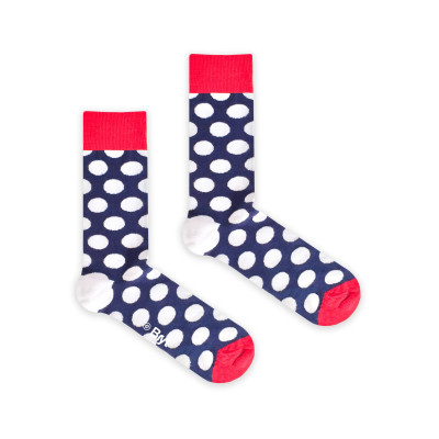 Socks | Dark Blue Polkadot