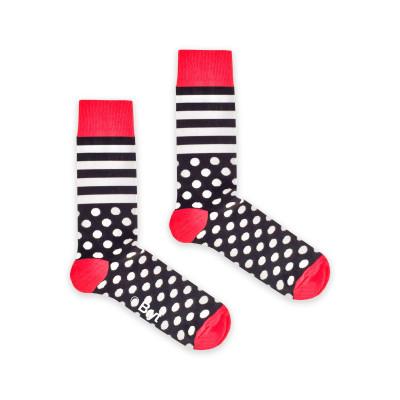 Socks | Black Stripe and Spot Sock