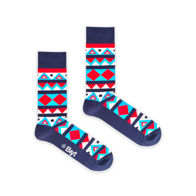 Socks | Red And Blue Aztec