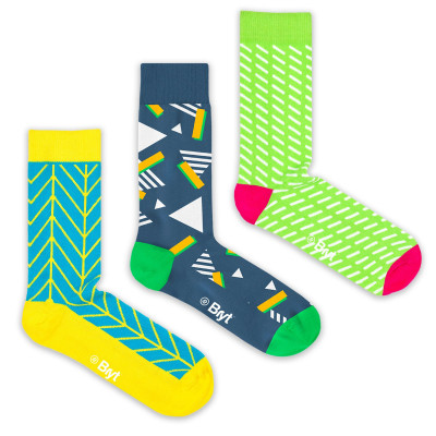 3 Pack Socks | Zig-Zags, Retro and Sprinkle Patterns