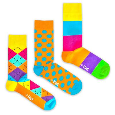 3 Pack Socks | Argyle, Spot, Block Patterns