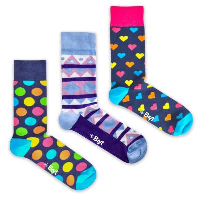 3 Pack Socks | Spots, Star, Fan Patterns