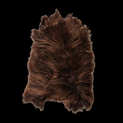 Isländischer Schaf-Teppich | Kastanie