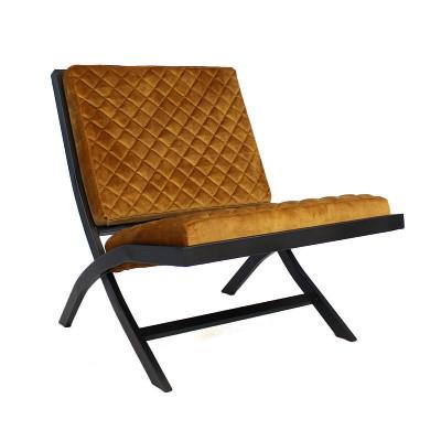 Stuhl Randolph Velvet | Cognac
