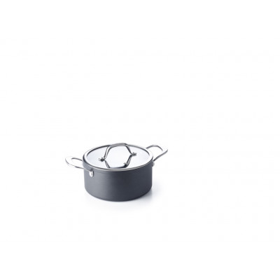 Kochtopf Non-Stick mit Glasdeckel Balance 16 cm | 1,5 L Schwarz
