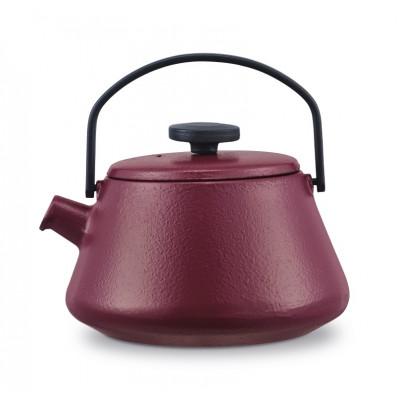 Gusseisen Teekanne T-time | Aubergine Rot
