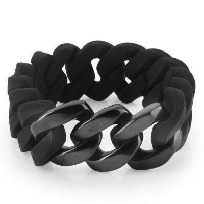 The Silicone bracelet   Classic Black & Black